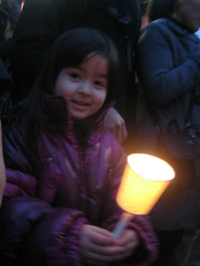 14 국회 앞 인간의 쇠사슬에서 만난 소녀친구