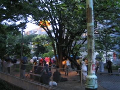 미야시타 공원에서 밥짓기