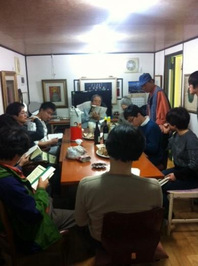 김융희 선생의 초대로 수유너머R 특강 의 종강MT를 연천 우백당에서 진행했다